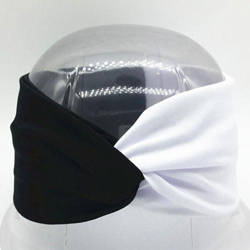 Boho Twist Colorblock Headband-Black & White