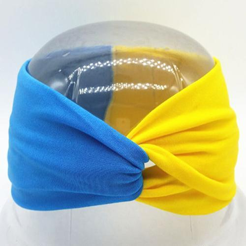 Boho Twist Colorblock Headband-Blue & Yellow