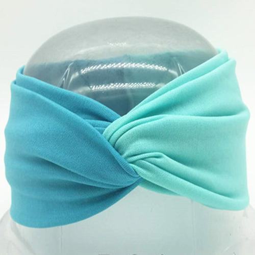 Boho Twist Colorblock Headband-Peacock & Teal
