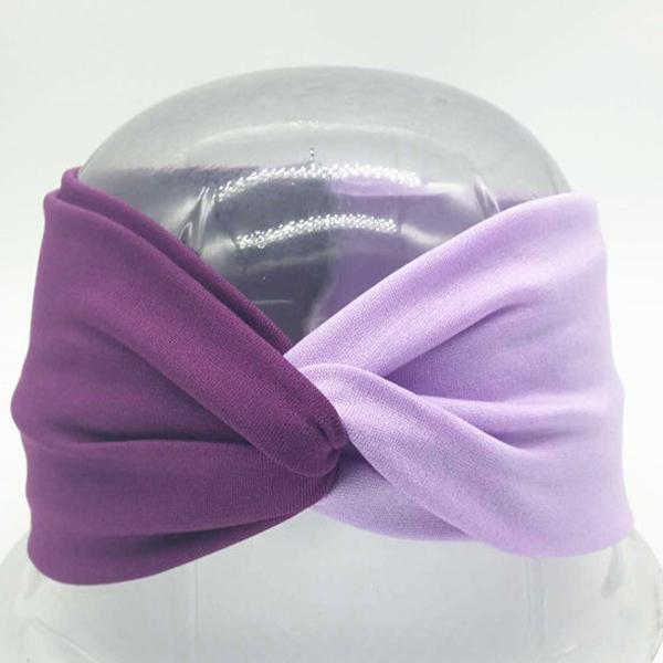 Boho Twist Colorblock Headband-Purple & Lavender