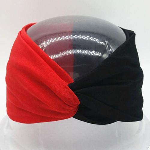 Boho Twist Colorblock Headband-Red & Black