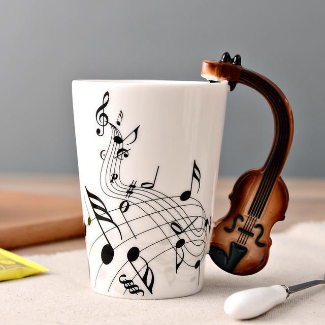 Novelty Guitar Ceramic Mug-Violin