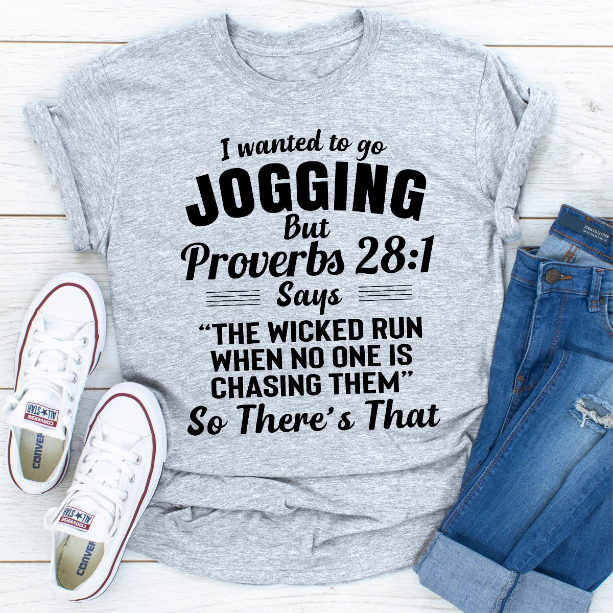 I Wanted To Go Jogging (Sport Grey / L)