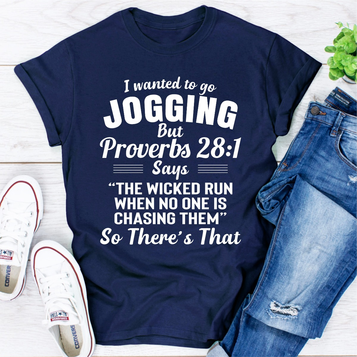 I Wanted To Go Jogging (Navy / L)
