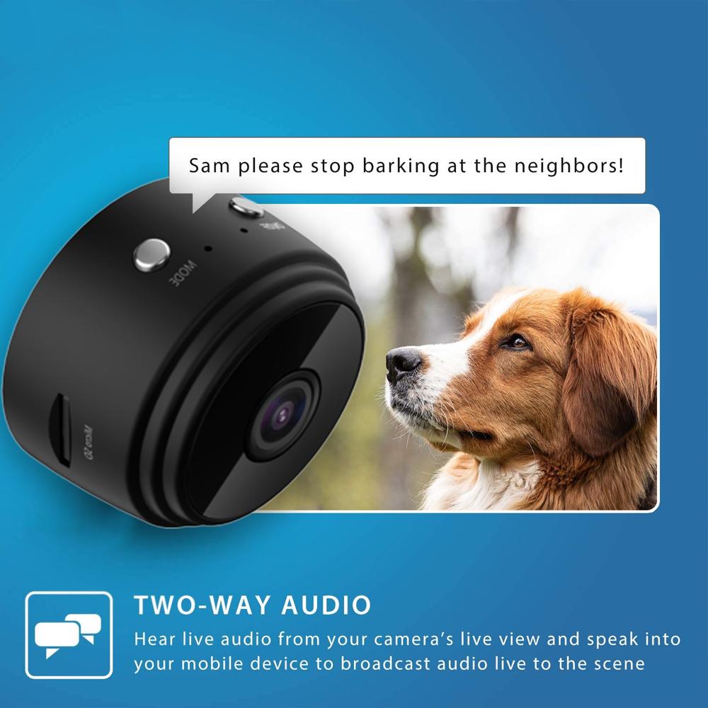 Mini Wireless WIFI Spy Camera with Sensor Night Vision