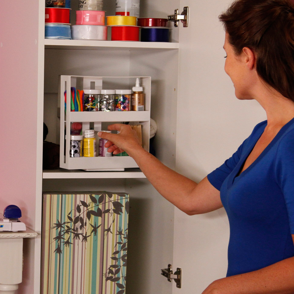 Multi-Function Rotating Storage Rack For Spices & Pill Bottles