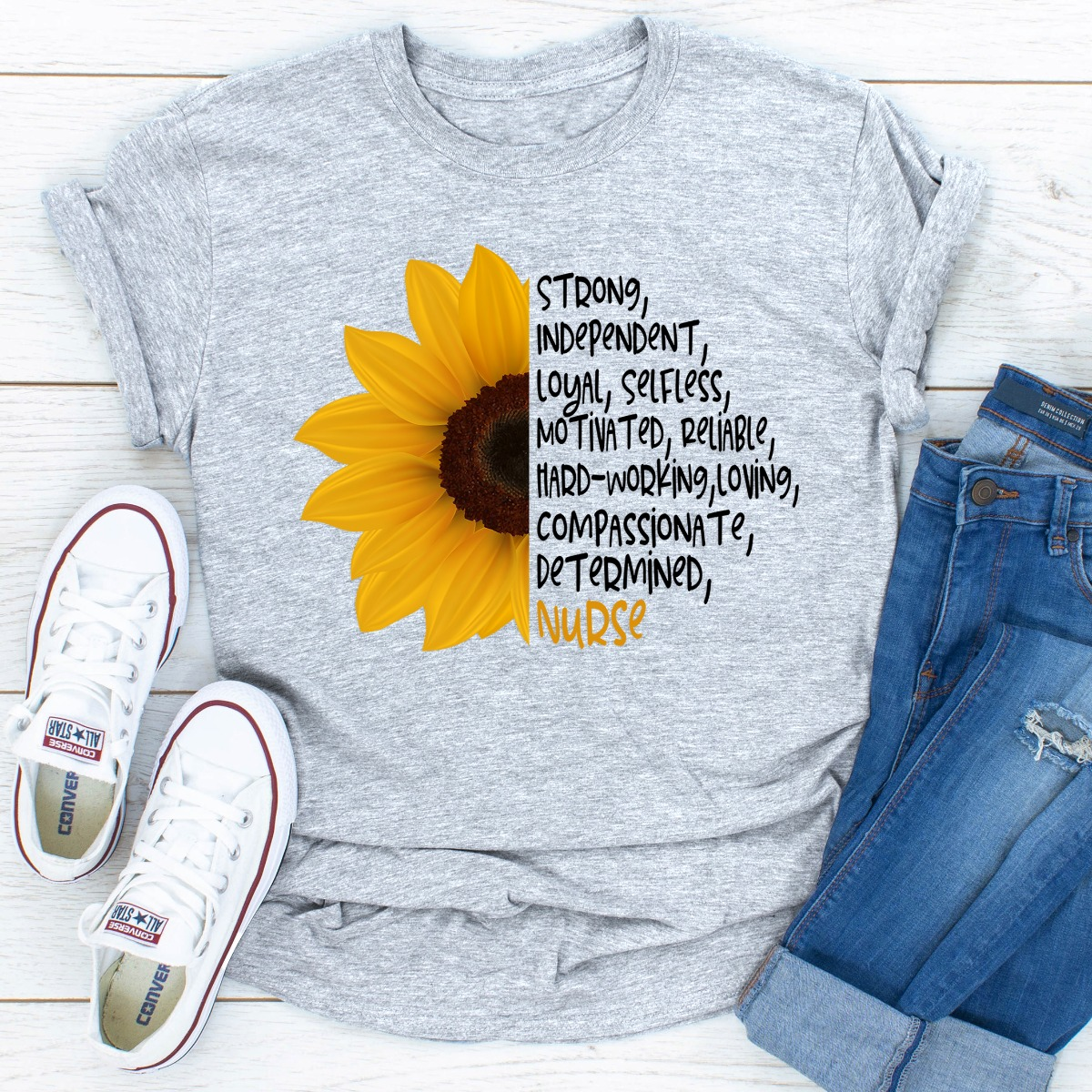 Sunflower Nurse (Sport Grey / 2Xl)