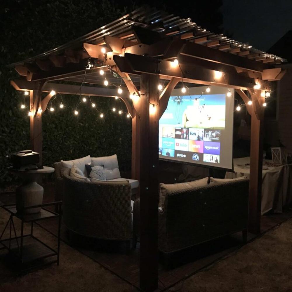 Portable Anti-Light Outdoor Projector Screen