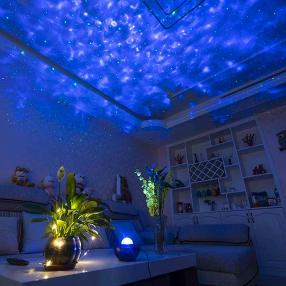 Remote Controlled Bluetooth Music Starry Galaxy Projector Light
