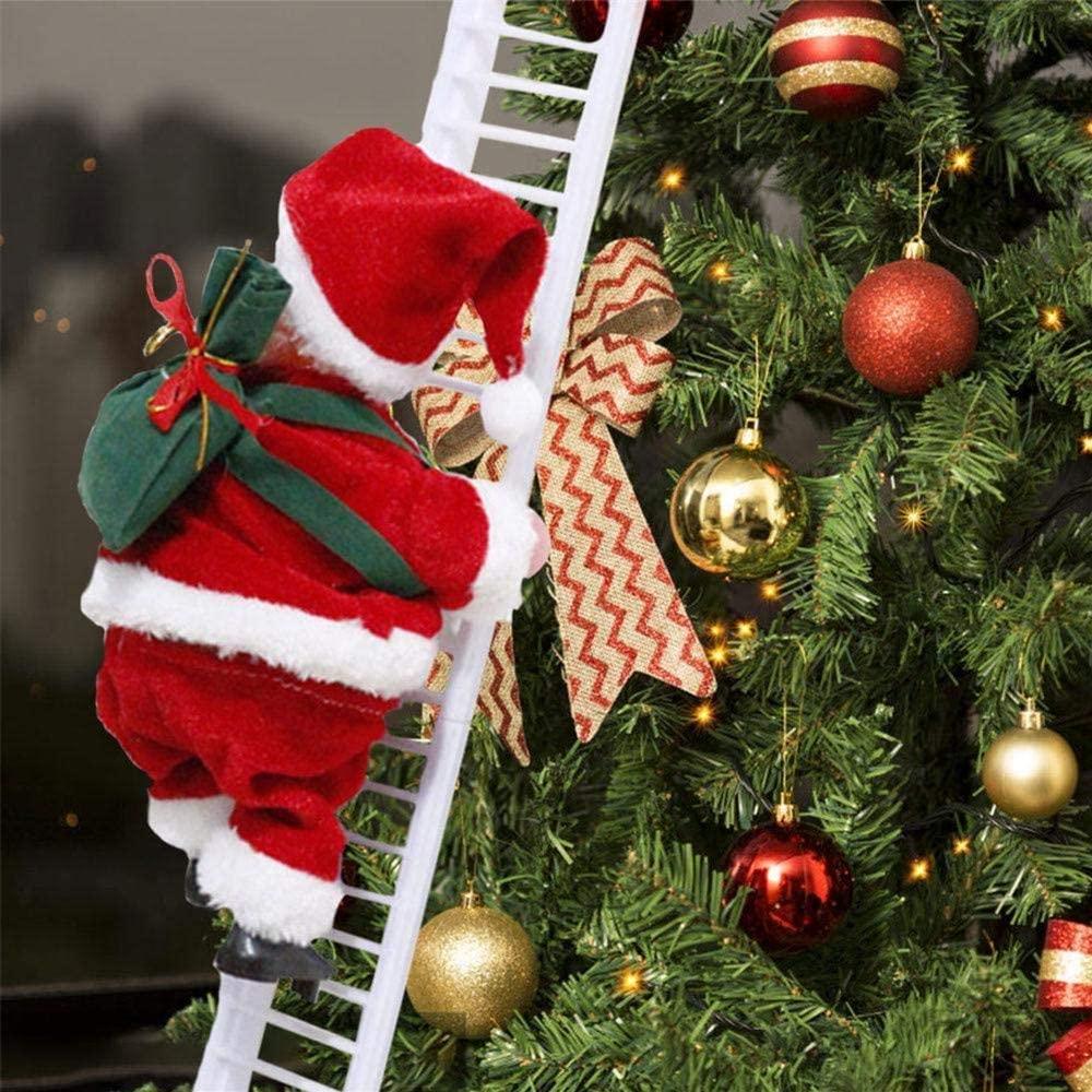 Santa Climbing Ladder Christmas Decorations