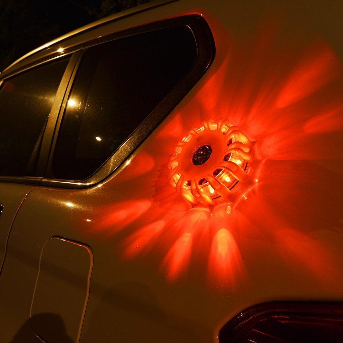 Magnetic LED Emergency Safety Flare Set