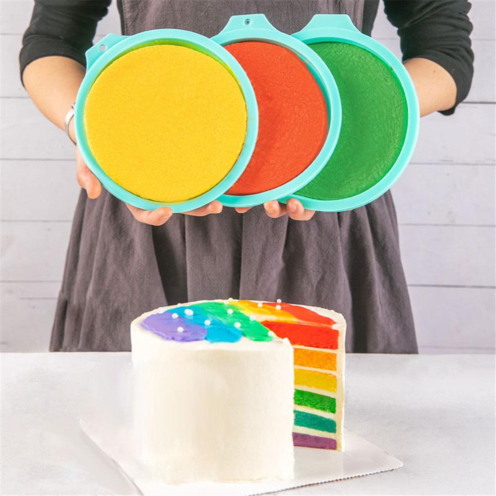 """8"""" Silicone Rainbow Cake Mold Set"""