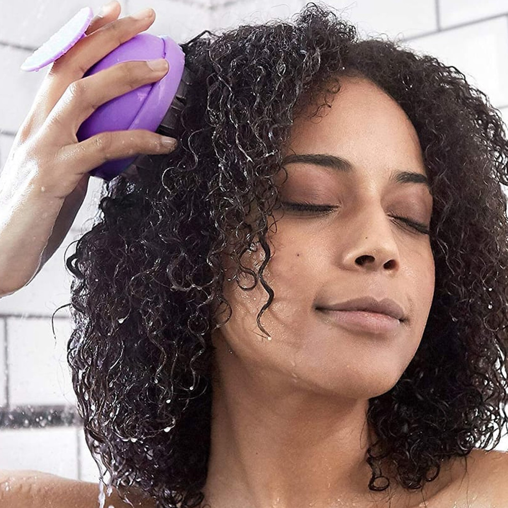 Silicone Scalp Massager Dandruff Remover Shampoo Brush for Healthy Hair