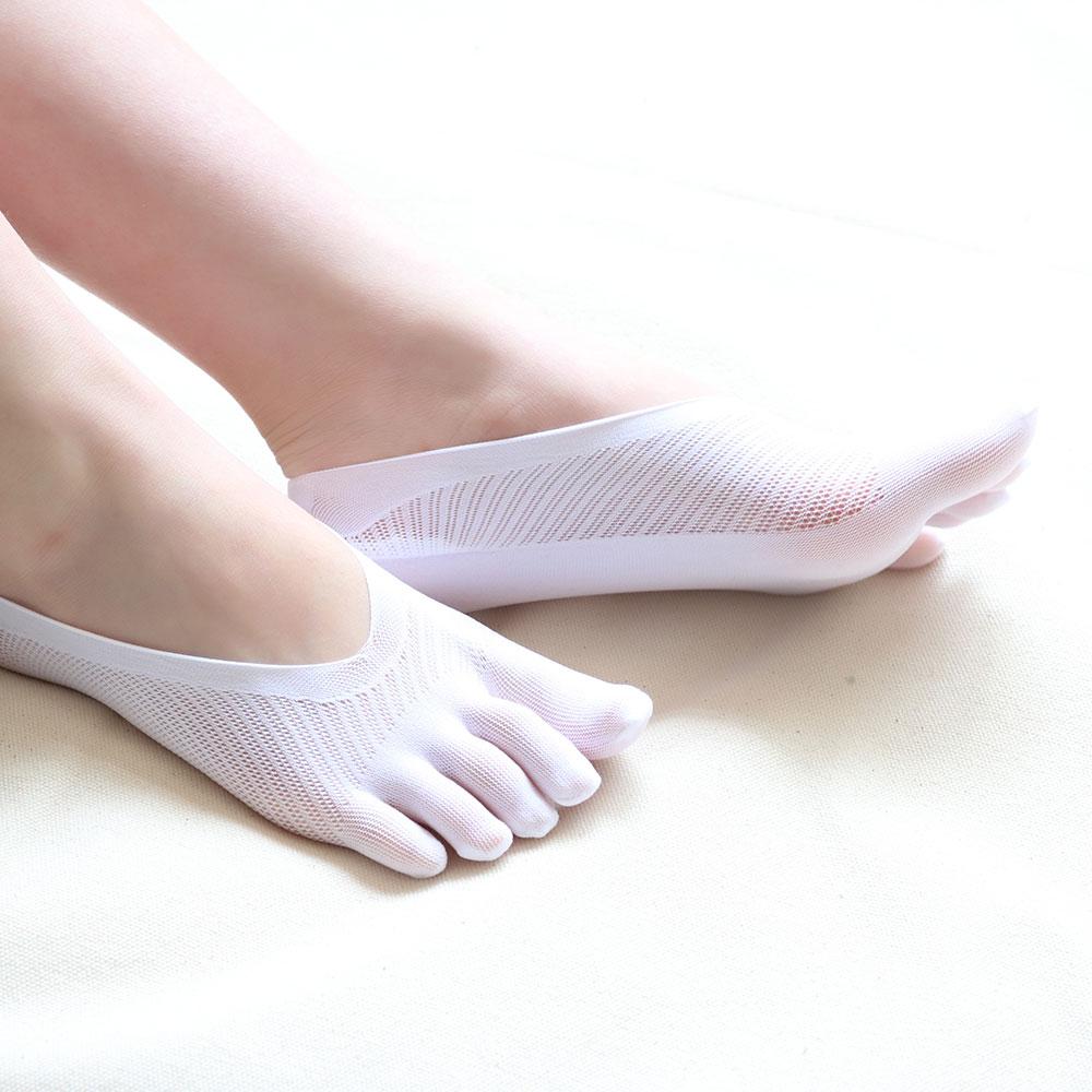 Non-Slip Breathable Five Fingers Ankle Toe Socks