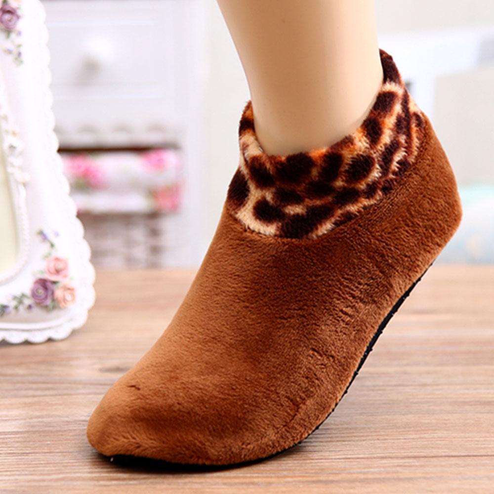 Slip-Resistant Thermal Socks-Brown