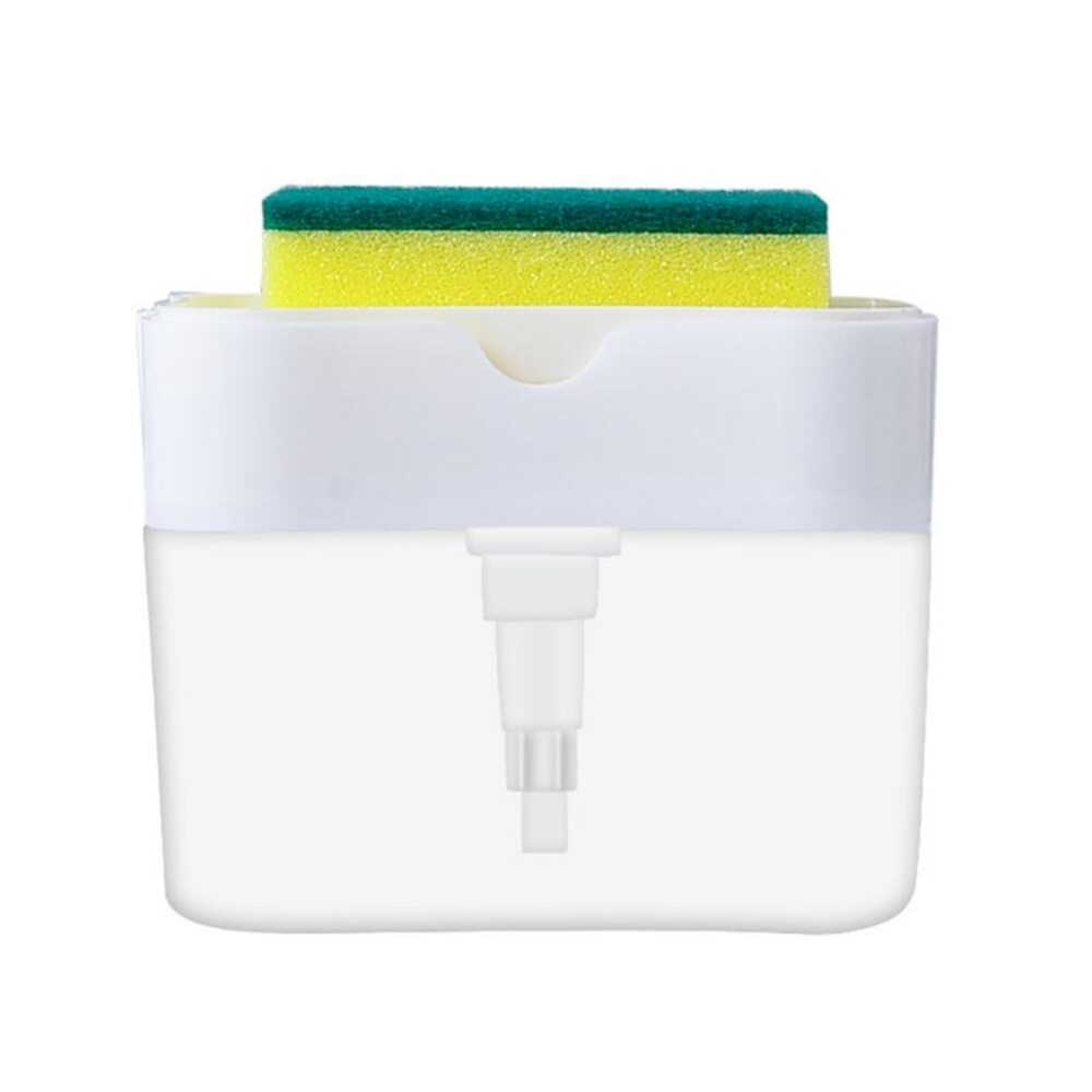 Soap Caddy With Sponge Holder-White