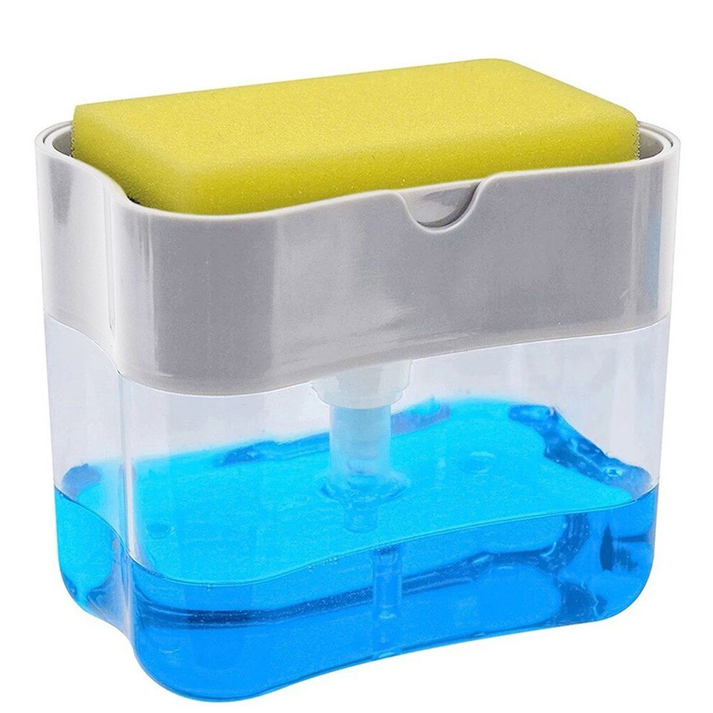 Soap Caddy With Sponge Holder-Gray