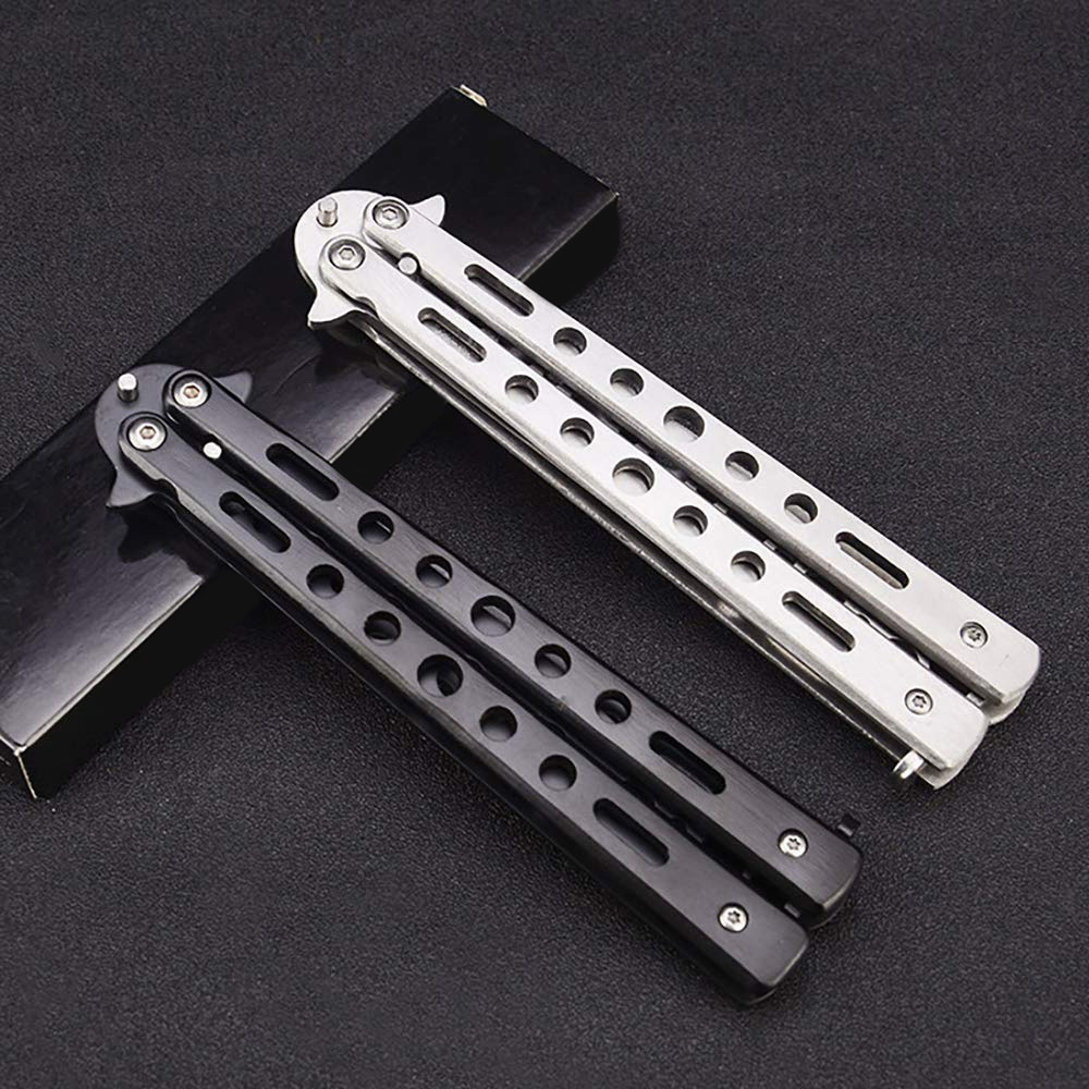 Stainless Steel Butterfly Knife Comb Trainer