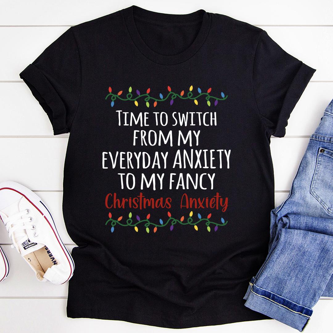 Christmas Anxiety T-Shirt (Black Heather / 2Xl)