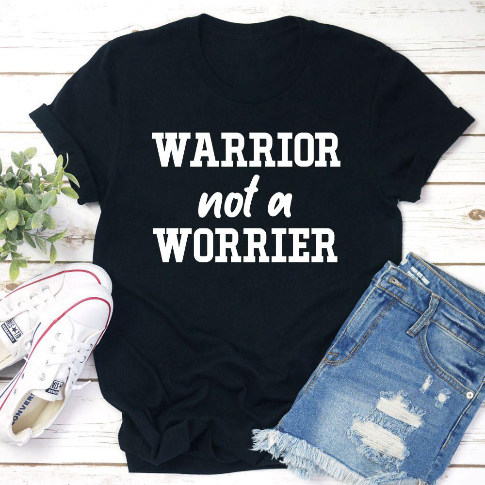Warrior Not A Worrier T-Shirt (Black Heather / Xl)
