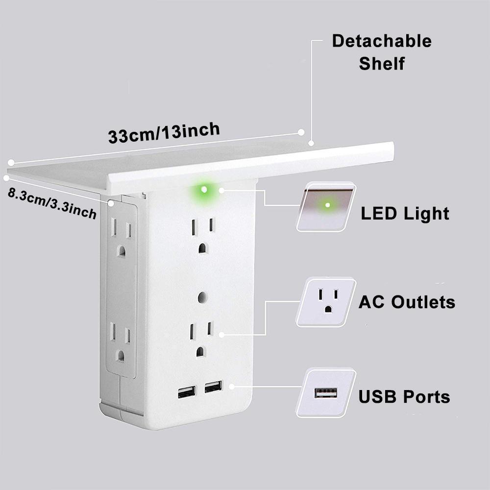 Multi Plug Outlet Extender Rack