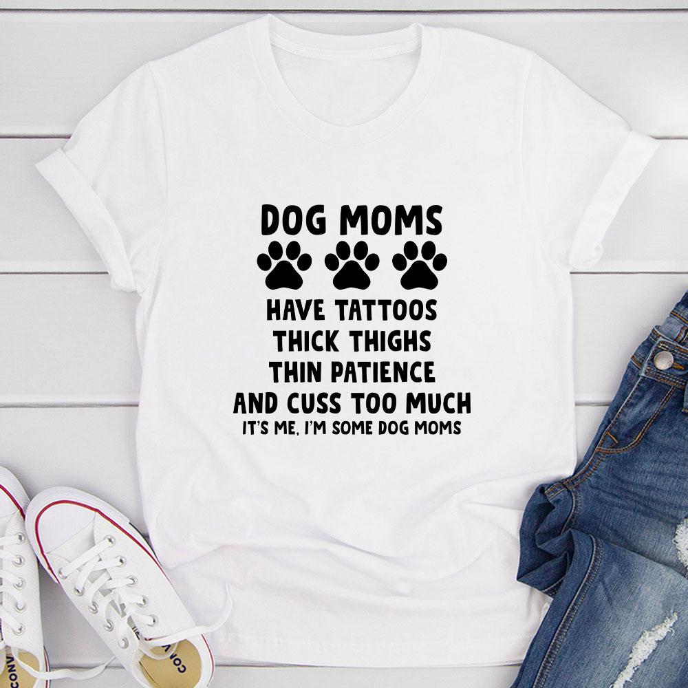 Dog Moms T-Shirt (White / S)