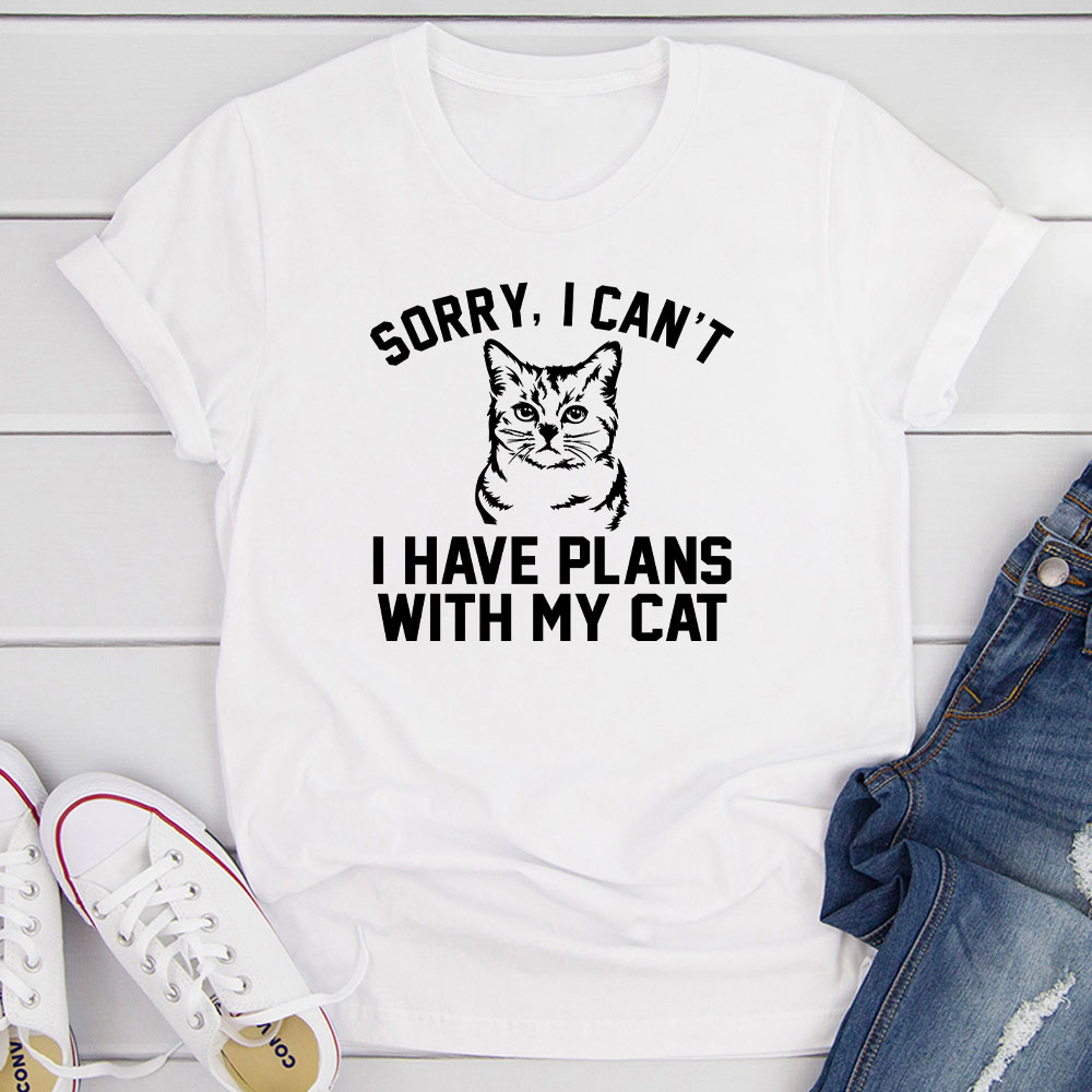 sorry i can't i have plans with my cat (white / l)