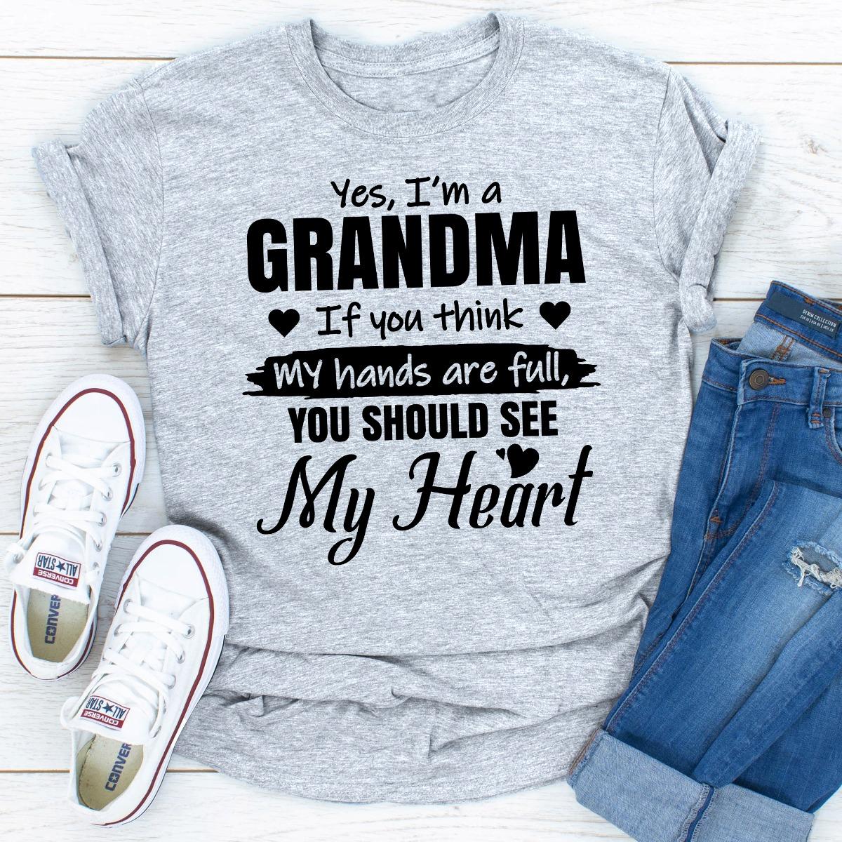 Yes, I Am A Grandma (Sport Grey / 2Xl)