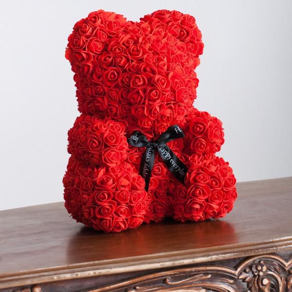Red Rose Flower teddy bear